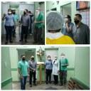 Flávio Farias faz visita ao Hospital Padre Colombo