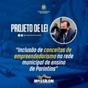 Massilon propõe PL que cria a inclusão de conceitos de empreendedorismo nas Escolas Municipais de Parintins