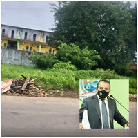 Massilon solicita cercamento de terreno abandonado da Câmara no centro de Parintins