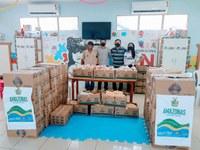 Por intermédio de Babá Tupinambá, Instituto IAPIN recebe duas toneladas de alimentos