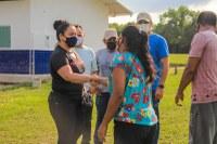Vereadora Vanessa Gonçalves vai às comunidades Fluminense, Peixe Marinho, Maranhão e Tracajá para vistoriar obras em escolas e abastecimento de água