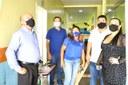 Vereadores acompanham início dos serviços de recuperação de parte da estrutura da Escola Santa Luzia